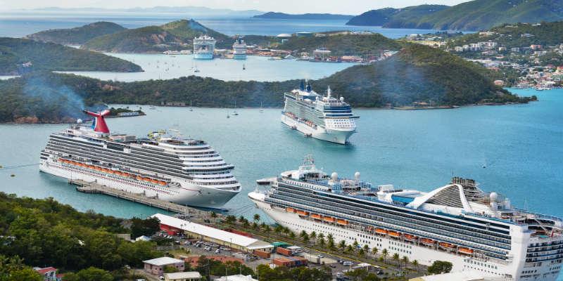 Krydstogtskibe i St Thomas - Vi elsker krydstogt