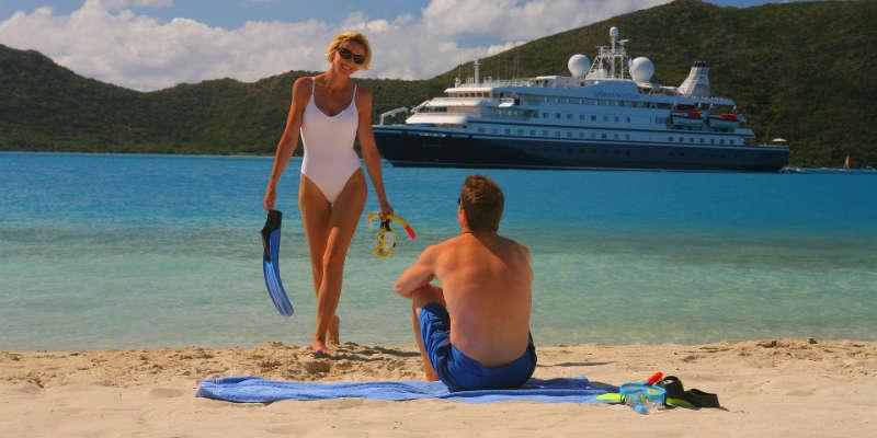 Romantisk krydstogt i Caribien