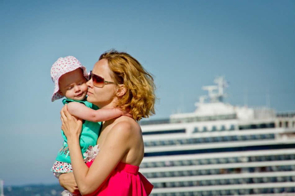 Baby eller spædbarn med på krydstogt