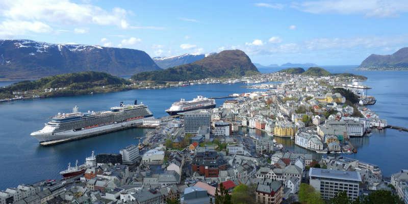 Cruise fra København Aalesund Norge